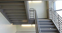 Fabrication of Steel Emergency Egress Stairs for a Hospital Building