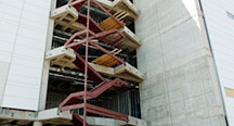 Structural Fabrication and Erection of Steel Monumental Stairs